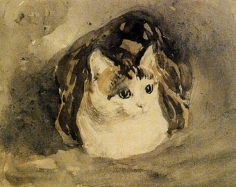 11x14 art print-The Cat by John Gwen