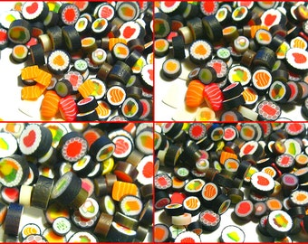 200 pc Handmade Sushi Mix 6mm to 10mm