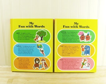 Vintage Book My Fun With Words by James Ertel Word Book Home School Dictionary Home School Children's Dictionary English School Book