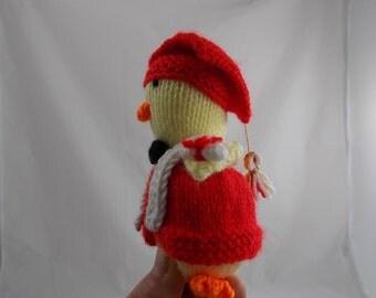 "Graduate chicken graduation gift idea handknit with love made in Britain size 15 cm high (6""inch)"