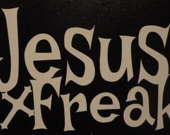 Jesus Freak Religious car decal