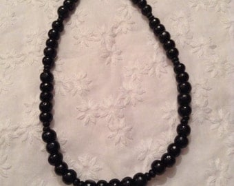 Young boys beaded wooden necklace