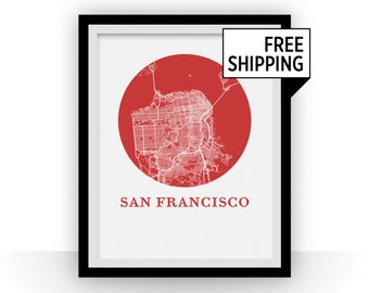 San Francisco Map Print - City Map Poster