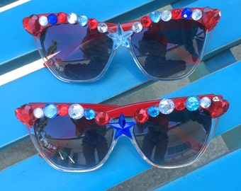 Red White & Blue 4th of July Sunglasses