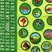 Closing Sale 12.5 x44 Robert Kaufman Girl Scout Green Badges Fabric Rare Amazing don't miss COTTON