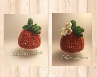 Baby Pumpkin Hat - Newborn Pumpkin Hat - Baby Pumpkin Hat - Child Pumpkin Hat - Halloween Hat - Halloween Photography Prop-pumpkin beanie