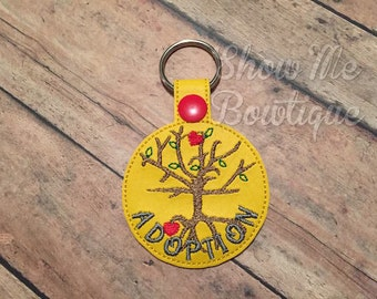 Adoption Tree Key fob/zipper pull