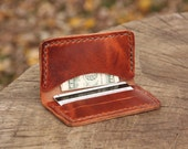 The Thomas - Men's Minimalist Leather Handmade Wallet, Made in USA, at Ike's - Horween Leather