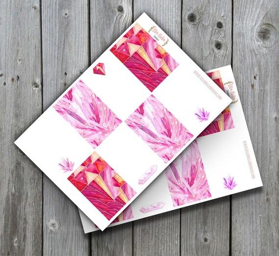 Happy Planner Pink Gem stickers