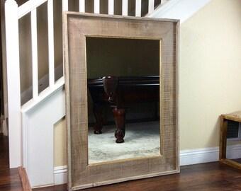 """Rustic Mirror, 35 1/2"""" by 47 1/2"""",  Farmhouse Mirror, Many Sizes,  Vanity Mirror, Mirror, Bathroom Mirror, Decorative Mirror, Rustic Wood,"""