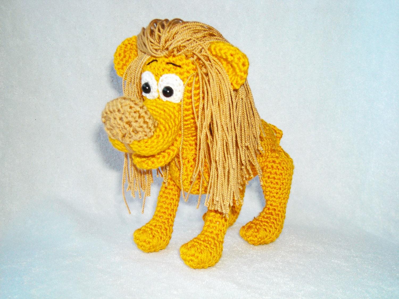 amigurumi lion crochet lion safari jungle kawaii by ...