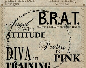 Girl Thing Word Art