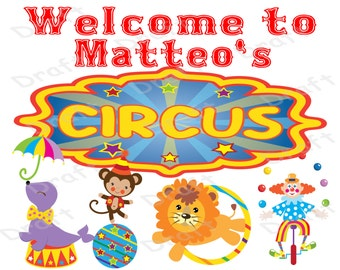 Circus Birthday Sign, Carnival Birthday Decoration, Circus Birthday Party, Buy one get one