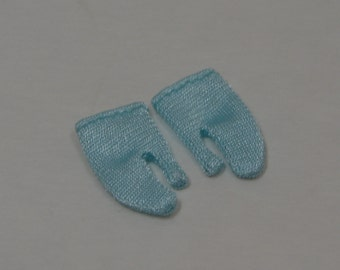 """Short Aqua Gloves, for Barbie and other 11.5 """" Dolls"""