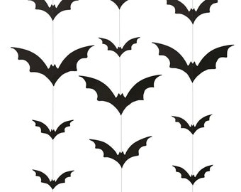 halloween bat backdrop bat garland halloween garland halloween decoration bat decorations - Halloween Bat Decorations