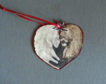 Ferret Love Christmas Ornament