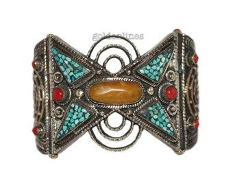 Turquoise bracelet coral bracelet Nepal Bracelet Tribal bracelet Tibetan bracelet Nepalese Bracelet Tibet bracelet boho chic, BR48