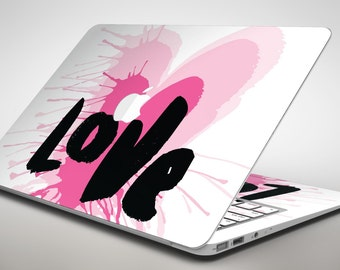 Splattered Pink Love - Apple MacBook Air or Pro Skin Decal Kit (All Versions Available)