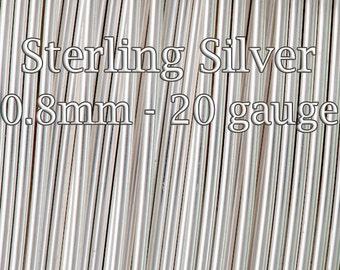 30Feet(9mt), Sterling Silver Wire, bulk Half Hard 20gauge 0.8mm, solid silver round wire, 15%Discount price bulk quantity silver wire