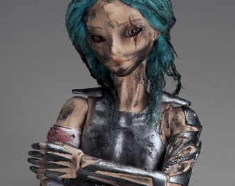 OOAK BJD Clay Art Doll- Warrior