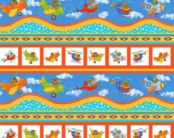 Baby Zoom Flying High~Cotton Fabric, Quilt, Child, by Northcott Fast Shipping,CH257