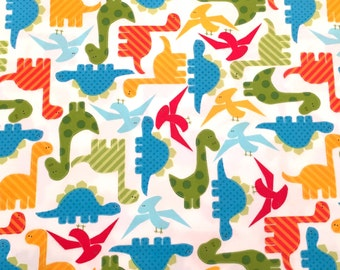 "Robert Kaufman fabric flannel ""Dinos"""