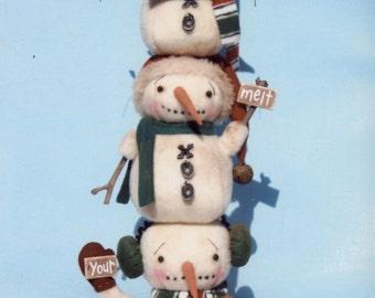 Primitive PATTERN Stick Stack Snow Snowmen
