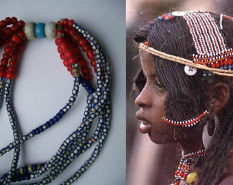 Vintage ketting  trade beads, Sidamo, zuiden van Ethiopië