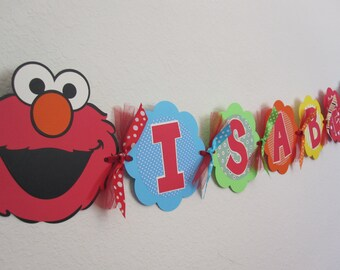 Elmo Birthday Party - Name Banner