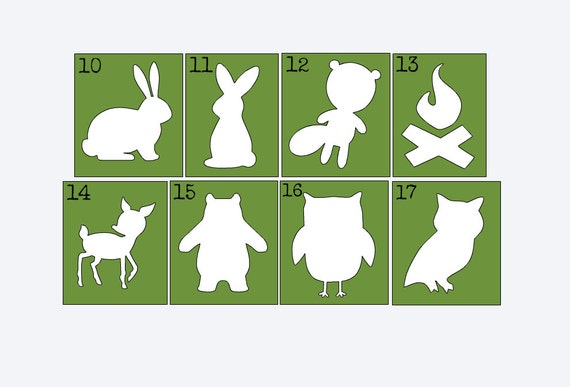 Woodland Animal Stencils For Painting Onesies By