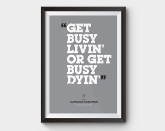 """The Shawshank Redemption - A3 (12x16"""") movie poster, film poster, minimalist movie poster, typography, movie quote, inspirational poster"""