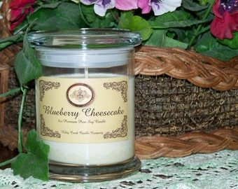 Blueberry Cheesecake Premium 100% Pure Soy Candle 8oz