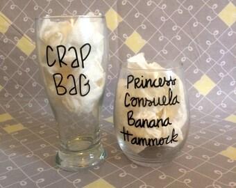 crap bag and princess consuela banana hammock wine and beer  friends wine and beer  banana hammock mug   etsy  rh   etsy