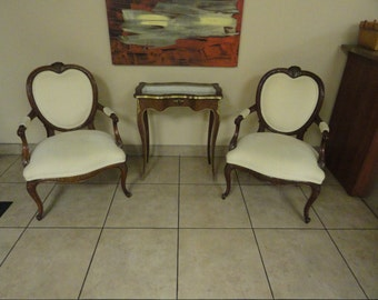 Elegant Pair of Ornate French Chairs Stylish Free Shipping in the Continental US