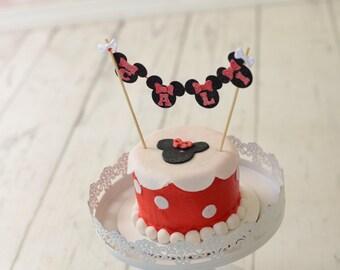Mouse Custom Name Cake Topper