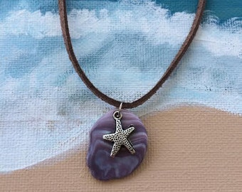 Wampum shell pendant with Starfish Charm
