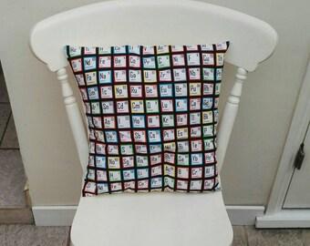 Geek/nerd periodic table cushion!