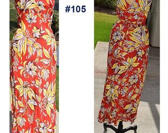Vintage Hawaiian dress 1940's