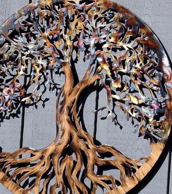 Large Tree Of Life Wall Decor 45 Inch By Humdingerdesignsetsy