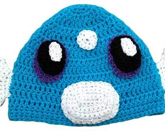 Dratini Inspired Hand Crocheted Hat