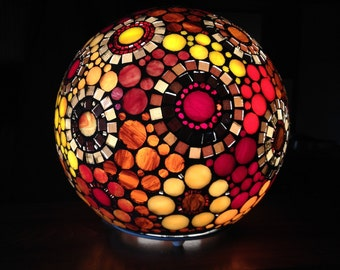 To order. Ball lamp in glass mosaic