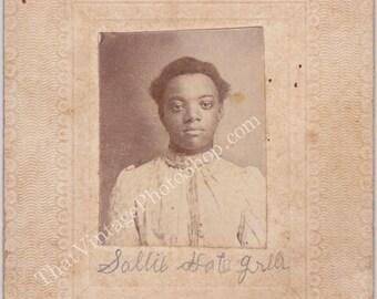 Identified African American Woman mounted snapshot
