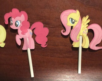 24 My Little Pony Cupcake Toppers