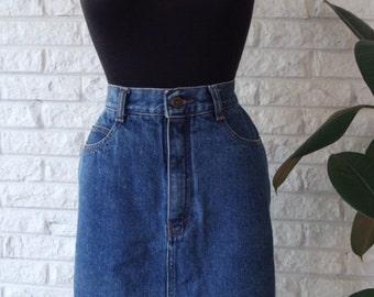 Vtg. Denim Pencil Skirt