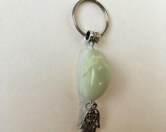 Stone Hamsa Keychain