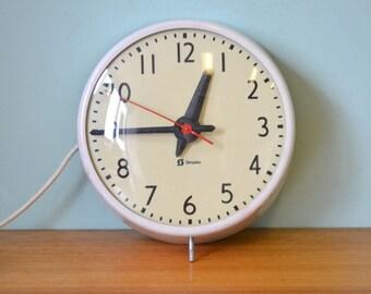 Vintage Simplex clock industrial mid century school clock