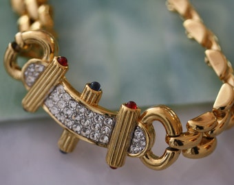 Couture Vintage Nina Ricci Paris Gold Demi Parure