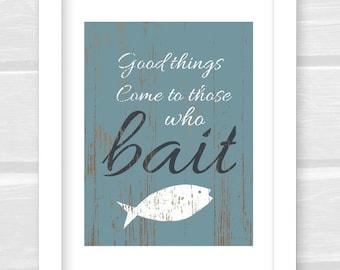 Fish Print, Gift for man, Nautical Decor, Gift for Fisherman, Gift for Husband, Man Cave Print, Fish Art Print, Gift for Dad, Fish Art