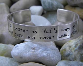Sister Bracelet - A sister is God's way...