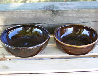 Hand made pottery bowl, hand made dip bowls or salsa bowls, glazed and fired to cone 6